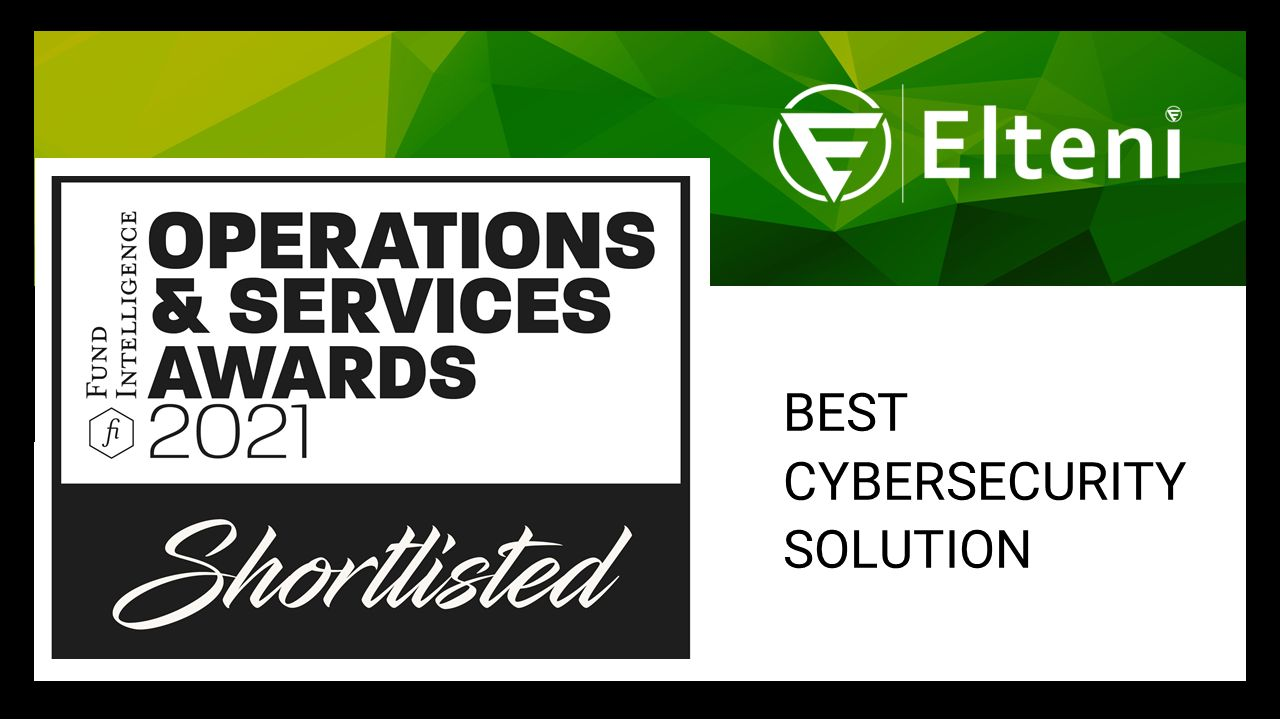 Elteni - Shortlisted for Fund Inteligence Operations & Services Awards 2021 - Best Cybersecurity Solution